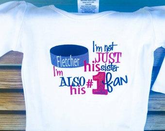 Hockey Fan - Hockey Sister - Hockey Shirt - Hockey Gifts - Hockey Player - Game Day Shirt - Sports Sister - Little Sister - Hockey Puck
