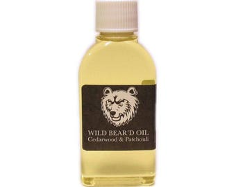 Cedarwood and Patchouli Beard & Moustache Oil 50ml, Natural Grooming Balm Hair Gift