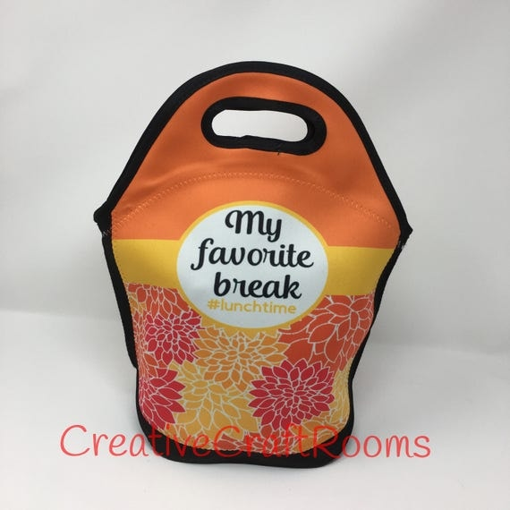 Insulated Lunch Tote, Neoprene Lunch Tote, Lunch Box, Lunch box for kids, School lunch bag, Beer Cooler, Teacher Gift, Nurse Gift, Dahlia