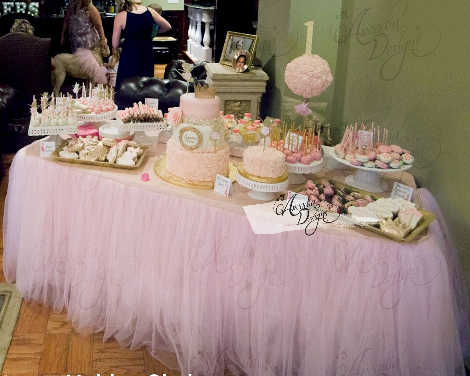 Etsy product birthday party ideas themes for Decoration sweet table
