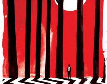 Twin Peaks Lithograph Art Print by Adam Fisher