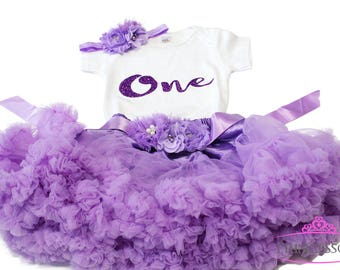 Cake Smash Outfit Girl, 1st birthday girl outfit, cake smash tutu, first birthday outfit girl, baby girl outfit, purple