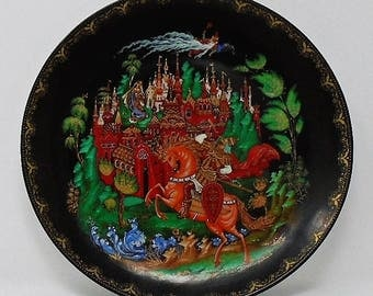 1988 / 1989 Tianex Russian Ludmila Fairy Tale Legend Plate The Bradford Exchange Number 1 / 2 / 3 / 4