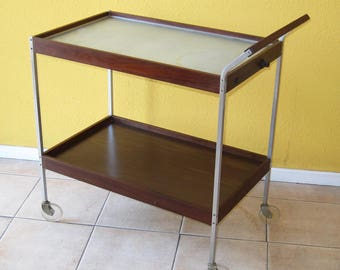 1970's Salton Hotray heating car/bar cart