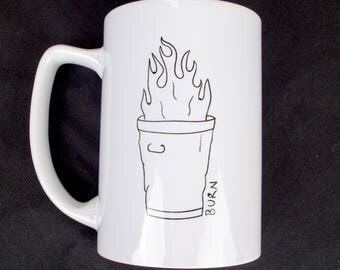 Burning Garbage Mug
