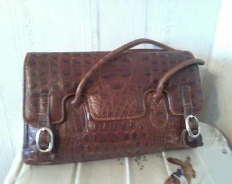 original bag leather CROCOvintage 1990s