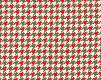 Snow Much Fun #19807-14, Deb Strain, Red and Green Houndstooth, Christmas Houndstooth, Moda Fabrics, IN STOCK