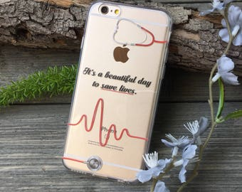Beautiful Day to Save Lives iPhone Case, Your choice of Soft Plastic (TPU) or Wood
