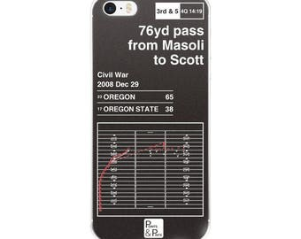 Oregon Football iPhone Case: 76yd pass from Masoli to Scott (2008)