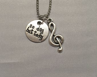 No Day But Today Rent Musical Broadway Jewelry Necklace Accessory Pendant