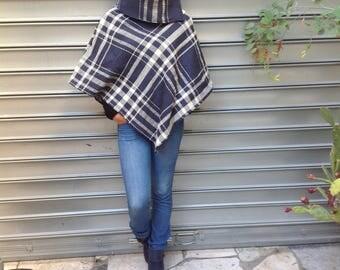 1 cape fée en laine  couleur bordeau chiné zania de la suerte