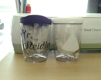 10oz Wedding Wine Glasses with Lid