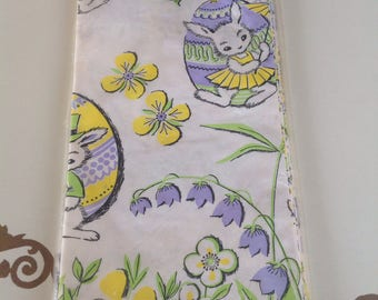"""Vintage Paper Easter Tablecloth 60""""X102"""""""