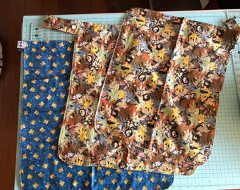 """Item made did not sell but good peices of fabric 20"""" x 16"""", 18"""" x 20"""", 20"""" x 20"""" sold together"""