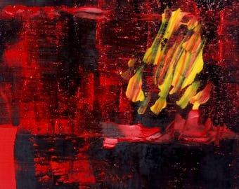 Minimal art oil painting original 177 B abstract