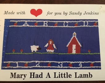 Mary Had a Little Lamb Smocking Plate