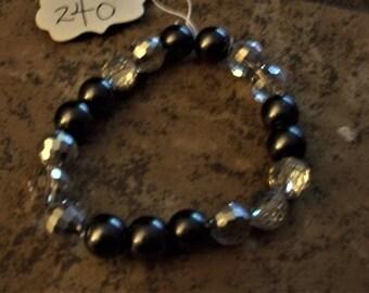 dark gray pearl bracelet