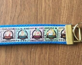 Seven Dwarfs Key Chain Wristlet Zipper Pull