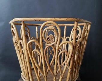 Vintage Wooden Planter Basket // Boho Basket // Boho Planter