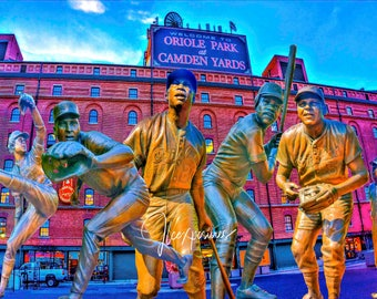 Orioles Statues  5x7  matted on white  mat #1283