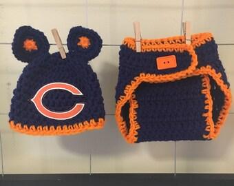 Chicago Bears baby hat, Chicago Bears newborn hat, boy Chicago Bears hat, girl Chicago Bears hat Chicago Bears winter hat for kids and photo