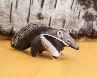 Giant anteater animal totem - Polymer clay animal OOAK figurine, talisman
