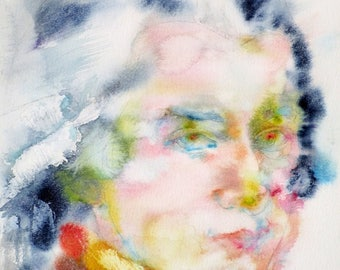 WOLFGANG AMADEUS MOZART watercolor portrait - art print - various sizes available!
