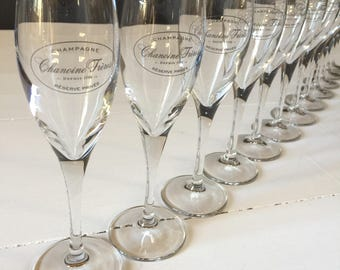 Set of 4 French Vintage Champagne Flutes, Champagne Coupes, Champagne Glasses