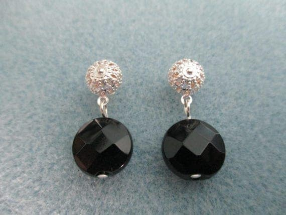 Black Onyx Post Earrings B621171
