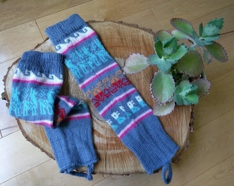 Real Peruvian Alpaca Wool Cozy Leg Warmers