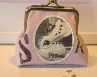 """Bunny Pet"" pink wallet"