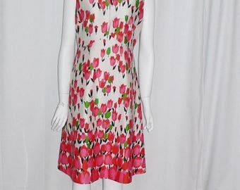 ON SALE 1970's  Polyester Emilio Borghese Tulip Dress