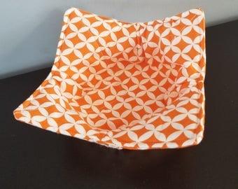 Orange Microwave Bowl Cozy / Bowl Hot Pad / Bowl Pot Holder / Hostess Gift