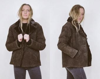 Vintage Guess Suede Jacket w/ Faux Fur Lining