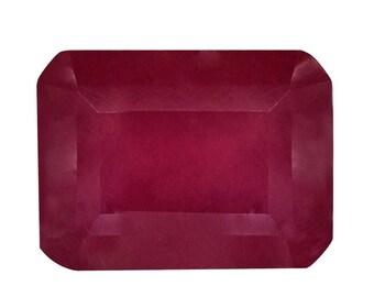 Ruby Fissure Filled Octagon Cut Loose Gemstone 1A Quality 8x6mm TGW 2.00 Cts.