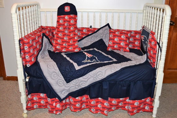 New England Patriots Crib Bedding by CutiePatootieBedding