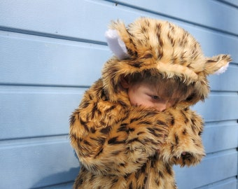 Leopard-Cheetah costume, Faux fur- Fully lined, 1-10 years