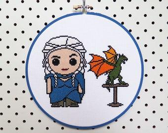 Game of Thrones Daenerys Cross Stitch