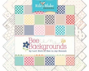 Bee Backgrounds by Lori Holt for Bee in My Bonnet for Riley Blake Fat Quarter Bundle 25 FQ
