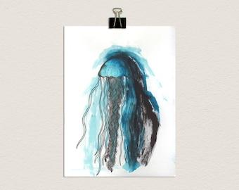 "Original Watercolour ""Jellyfish"""