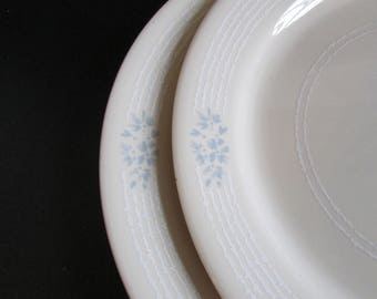 Two Corelle Livingware Misty Blue Corning Dinner Plates