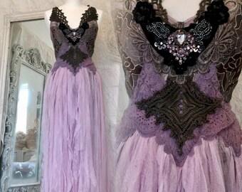 Wedding dress light pink ,bridal gown empire cut,bohemian wedding dress,lace wedding dress,alternative wedding dress,bride,outdoor
