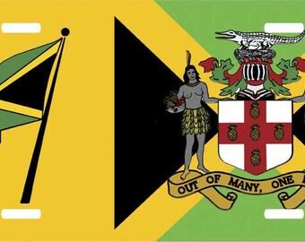 Jamaica Novelty License Plate DA Land 2B