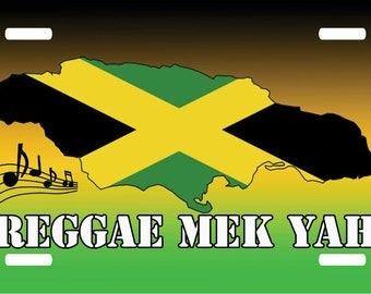 Jamaica Reggae Novelty Car License Plate Tag Holder