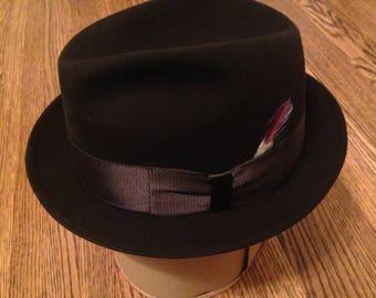 Vintage Kevin McAndrew, Black Felt, Short-Brim Trilby
