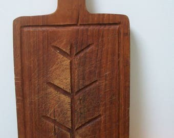 Vintage French Wooden cutting Chopping Board, serving bread cheese rustic #3 Country