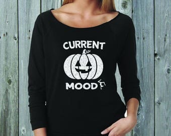 Current Mood Gymnast Mom Wide Neck Fleece Black