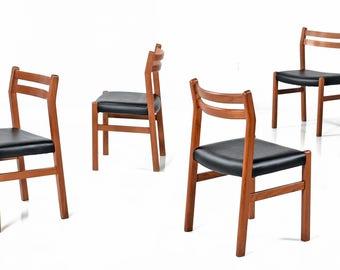 6 Danish Modern Teak Dining Chairs