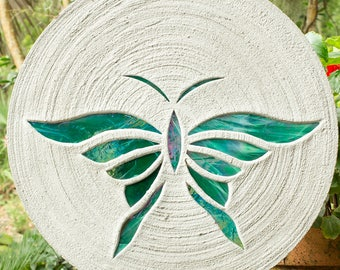 Iridized Teal Butterfly Stepping Stone #533