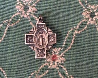 vintage Religious medal charm